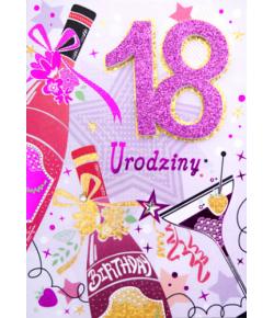 Kartka na 18 urodziny dla...