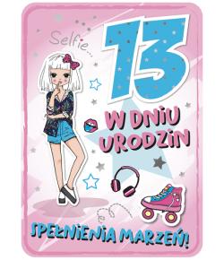 Kartka na 13 urodziny dla...