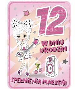 Kartka na 12 urodziny dla...