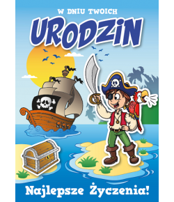 Kartka urodzinowa z Piratem...