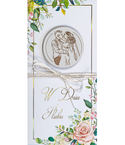 Kartka ślubna z życzeniami...